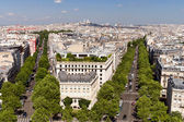 View on Paris from Arc de Triomphe — Stock Photo