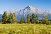 View on mountains of High Tatras and peak Krivan — Stock Photo
