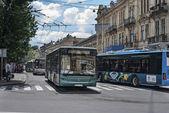 Belediye otobüsleri — Stok fotoğraf