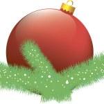 Christmas card with ball — Stock Vector