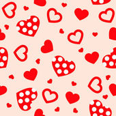 Seamless with hearts — Stock Vector