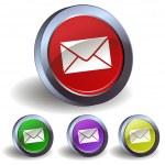 E-mail button icon — Stock Vector