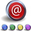 Stock Vector: E-mail buttons