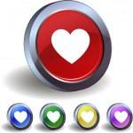 Heart buttons — Stock Vector