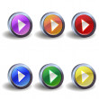Play icon buttons — Stock Vector