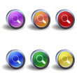 Search icon buttons — Stock Vector