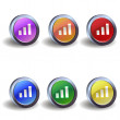 Signal icon buttons — Stock Vector