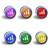 Signal icon buttons — Stock Vector