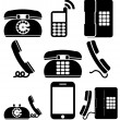 Phones and hansets — Image vectorielle