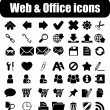 Web and office icons — Stock Vector