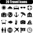 Travel icons — Stok Vektör