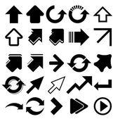 Black arrows — Stock Vector