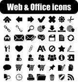 Web and office icons — Stok Vektör