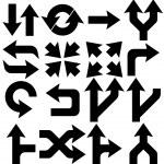 Arrows icons set — Stock Vector #23933205