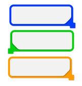 Rectangle color information sticks set — Stock Vector
