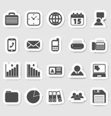Business and office icons, stikers — Stock Vector