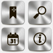 Set of web icons on metallic buttons vol3 — Stock Vector