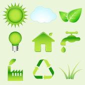 Environmental icons — Stock Vector