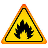 Vector fire warning sign — Stock Vector