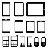 Mobile phones and tablets set — Stock Vector