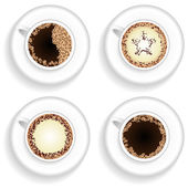 Cup of coffee and cappuccino set — Stock Vector