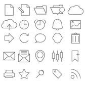 Simple Stroked icon set — Stock Vector