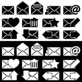 Envelopes for Email Set — Stock Vector