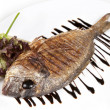 Close-up Grilled Foods - Grilled Fish dorado with Lemon with dif — Stock Photo #15804811