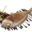 Close-up Grilled Foods - Grilled Fish dorado with Lemon with dif — Stock Photo #15804897