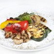 Stock Photo: Grilled vegetables (zucchini, eggplant, onions, peppers, asparag