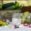 Stock Photo: Ingredients for pickling cucumbers
