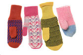 Multicoloured wool mittens — Stock Photo