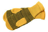 Yellow wool mittens — Stock Photo