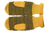Gelbe handschuhe — Stockfoto