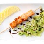 Salmon shashliks — Stock Photo #16218687