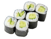 Rolls with cucumber — Stock Photo