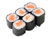 Rolls with salmon — Stock Photo