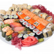 Variety of sushi — Stock Photo