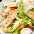 Chicken caesar salad closeup — Stock Photo