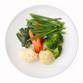 Dish with steamed vegetables — Stockfoto