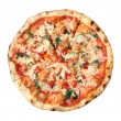 Top view of pizza vegetarian — Stock Photo