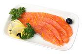 Sliced ??Salmon — Stock Photo