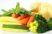 Steamed vegetables close up — Stock Photo