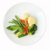 Vegetables on a dish — Stock Photo