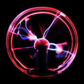 Plasma discharges in sphere — Stock Photo