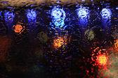 Krople deszczu na szybie — Zdjęcie stockowe