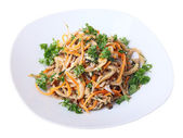 Salad with oyster mushrooms — Foto de Stock