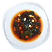 Miso soup top view — Stock Photo