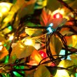 Stock Photo: Electric Christmas garland