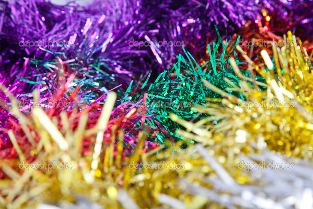 Multy color tinsel background — Stock Photo #15708921